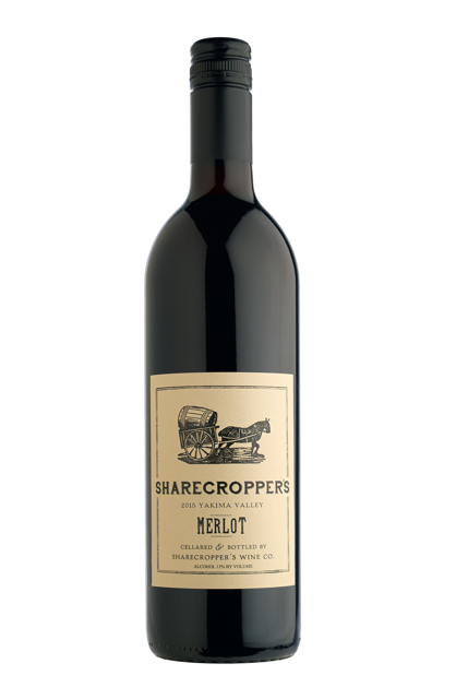 2015 Sharecropper's Merlot Bottle Shot