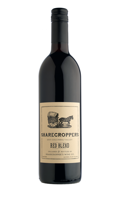 2015 Sharecropper's Red Blend Bottle Shot